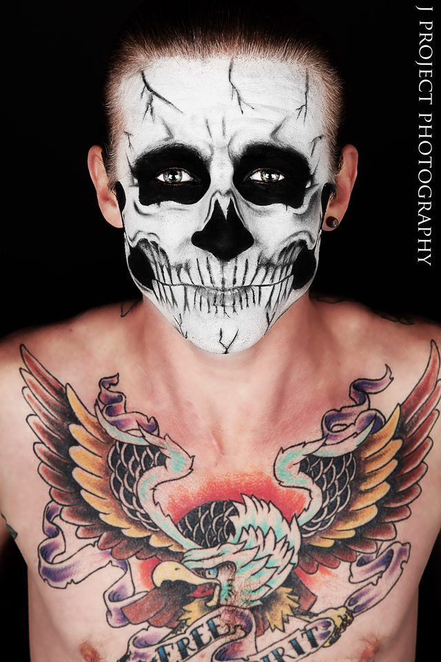 Photograph Skull boy  face paint by jamie  luckhurst on 500px
