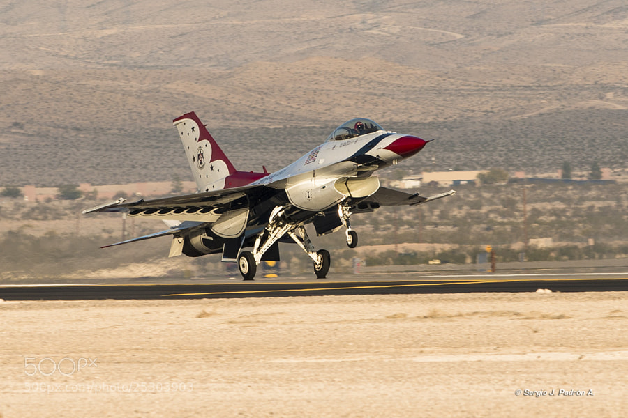 Number 1 landing at Nellis AFB during Aviation Nation 2012 air show