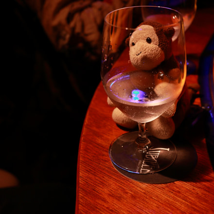 Monkey in BAR, Canon EOS KISS X7, Canon EF-S 24mm f/2.8 STM