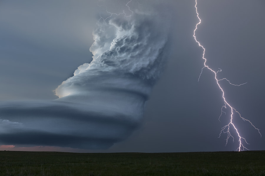 Barber Pole Lightning by Roger Hill on 500px.com