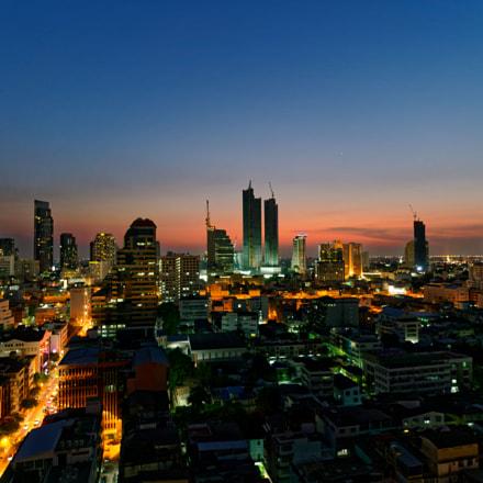 Bangkok sunset, Sony ILCE-7RM2, Sigma 19mm F2.8 [EX] DN