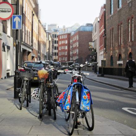 Parked Bikes, Canon POWERSHOT ELPH 300HS