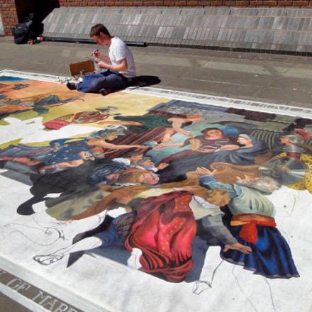 street painting, Sony DSC-WX1