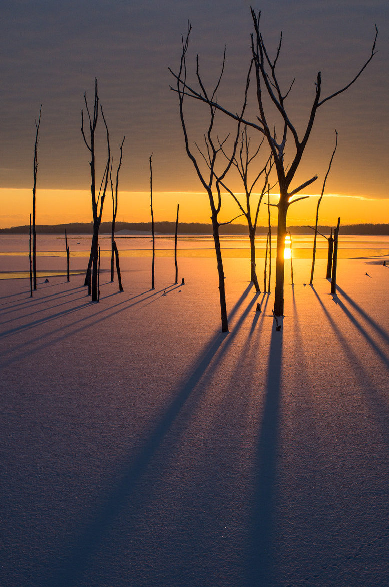 Photograph Sunrise in the Snow II by Dave Rogers on 500px
