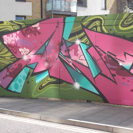 Angular Pink Graffiti By, Fujifilm FinePix JV250