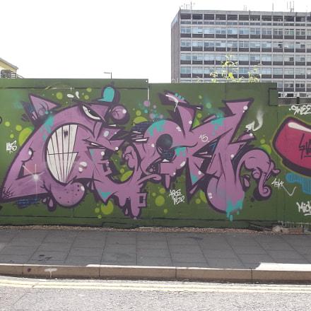 Tooth Bared Graffiti By, Fujifilm FinePix JV250