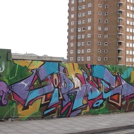Purple Blue Burgundy Graffiti, Fujifilm FinePix JV250