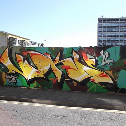 Yellow Vodka Graffiti By, Fujifilm FinePix JV250