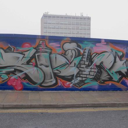 Grey Objects Graffiti By, Fujifilm FinePix JV250