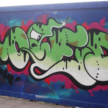 Green Owed Graffiti By, Fujifilm FinePix JV250