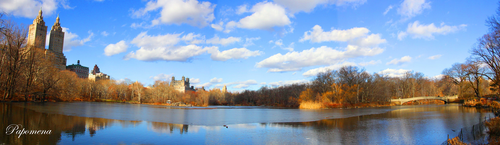 Photograph The Lake, New York Central Park Panorama   by Papo Mena on 500px