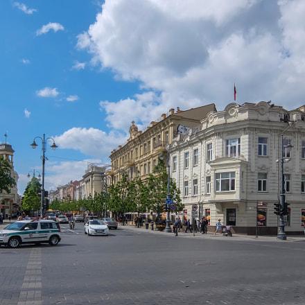 A street of Vilnius, Fujifilm XQ1