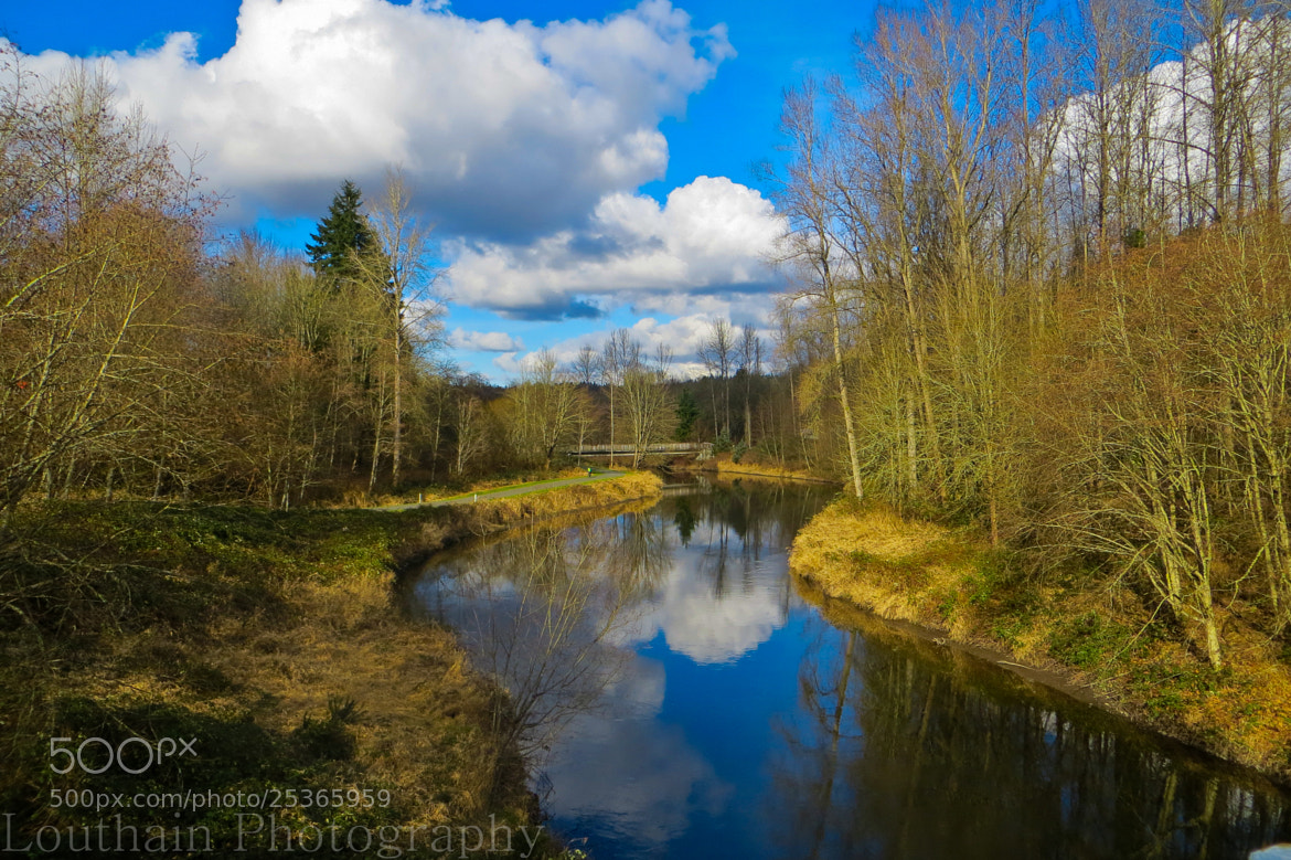 Photograph Scattered Clouds 'N Creek Reflection by Eric Louthain on 500px