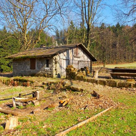 Cottage in a woods, Nikon COOLPIX L320