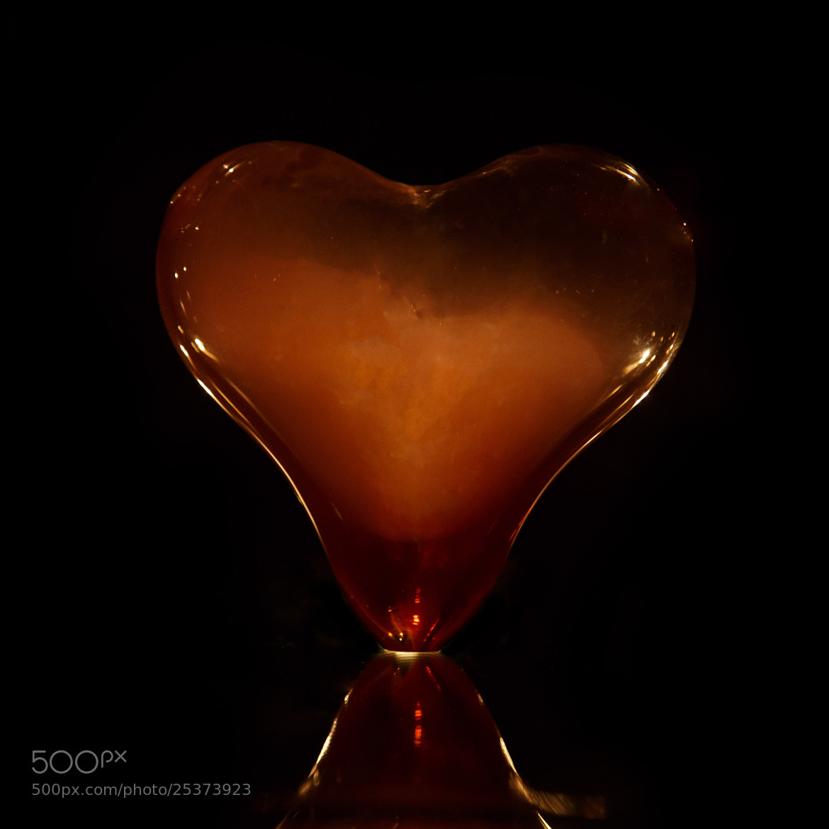 Photograph Glass Heart by Chris Cheng on 500px