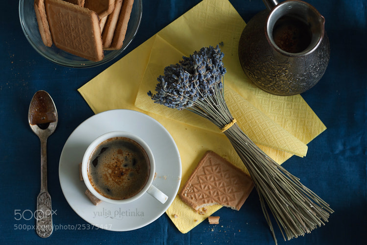 Photograph coffee & lavender by Yulia Pletinka on 500px