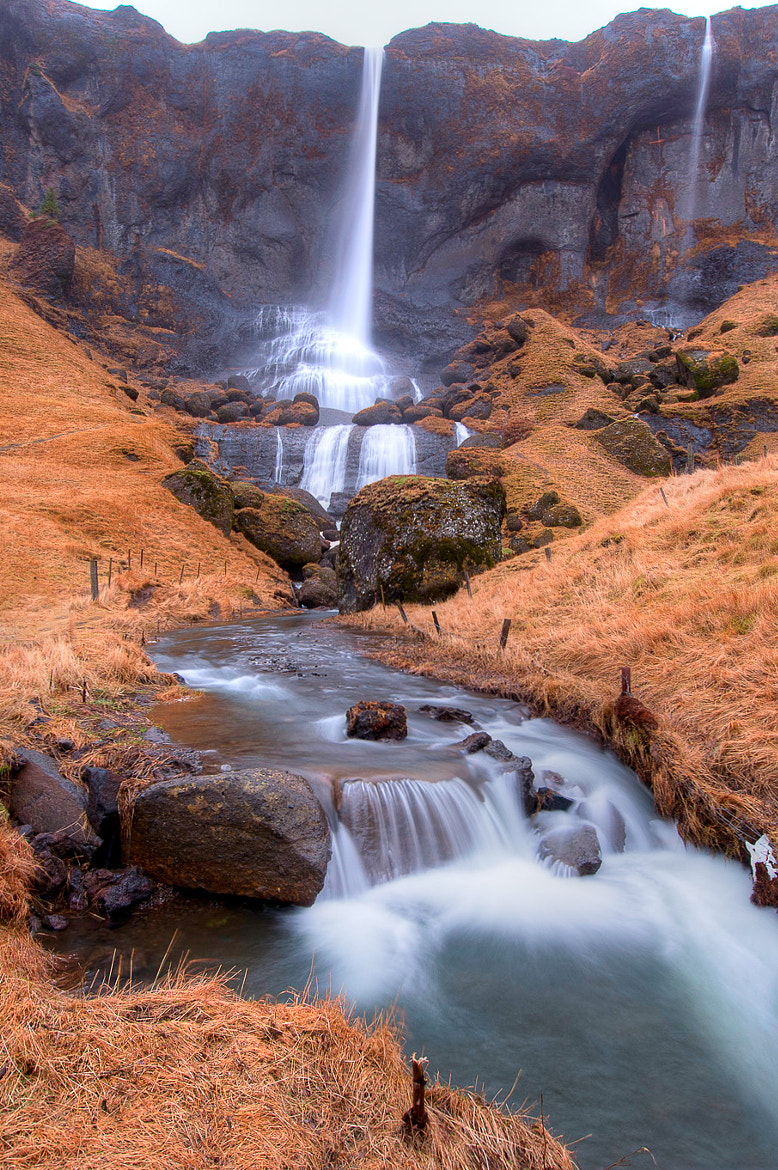 Photograph Water Falls Iceland by Kim C on 500px