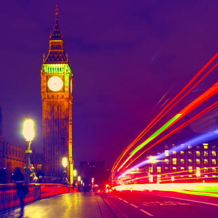 Colored Big Ben, Canon EOS 600D, Canon EF 28-80mm f/3.5-5.6