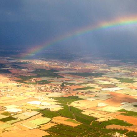 Flying towards a rainbow, Nikon COOLPIX P300