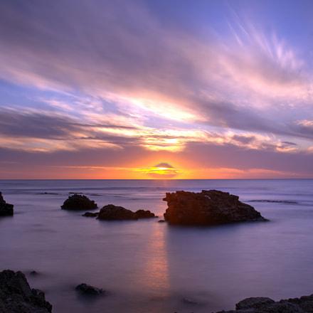 sunset at the beach, Nikon D7200, AF-S Nikkor 24-120mm f/4G ED VR