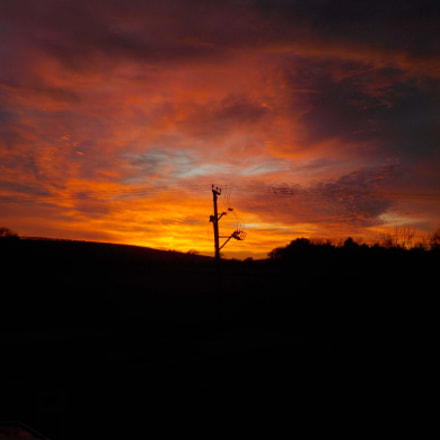 firey sky, Nikon COOLPIX W100