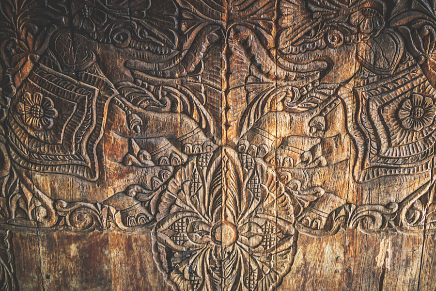 Carved Wooden Door, Pidurangala, Sri Lanka #2 by Son of the Morning Light on 500px.com