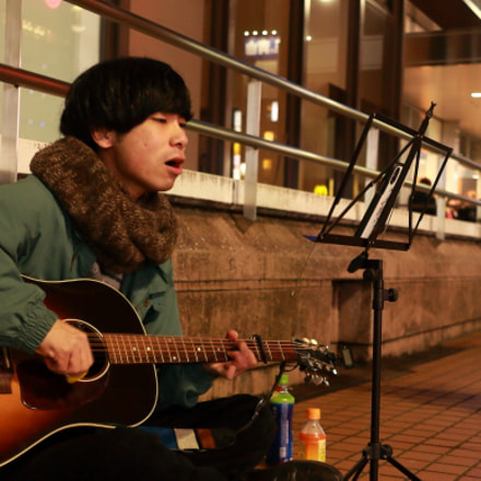 Live on street, Canon EOS KISS X7, Canon EF-S 24mm f/2.8 STM