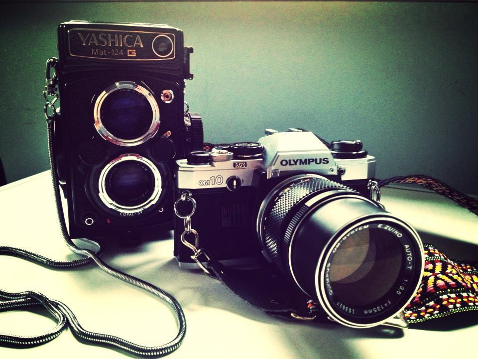 Photograph Yashica And Olympus OM10 by craig webber on 500px