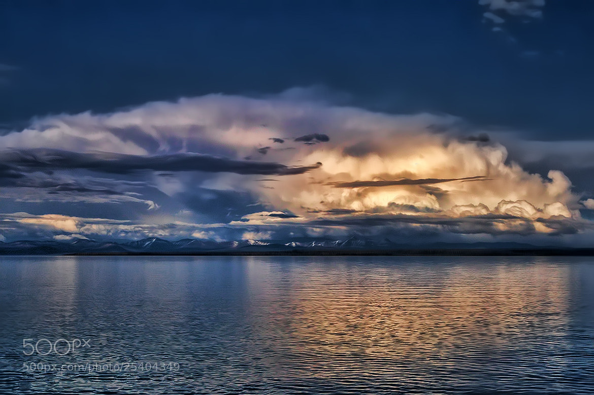 Photograph Clouds Over Yellowstone Lake by Sharon Smith on 500px