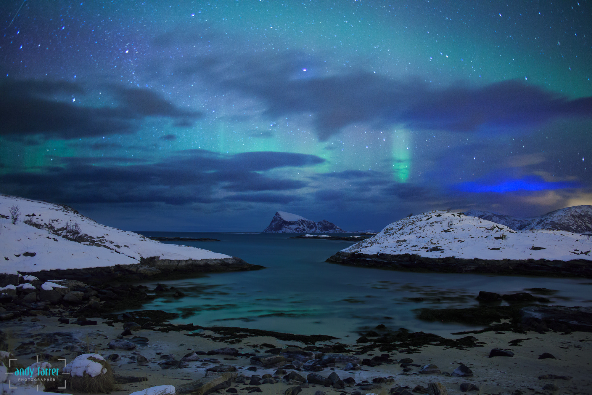 Photograph Colourful Aurora by Andy Farrer on 500px