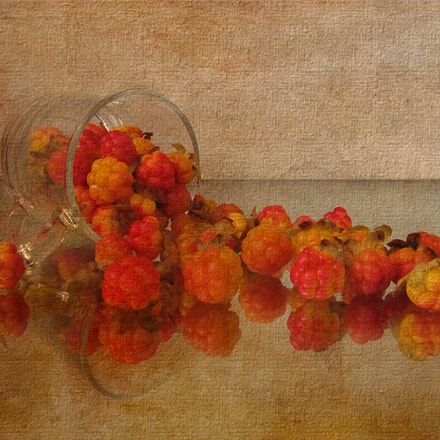 still life with cloudberry, Canon POWERSHOT SX20 IS