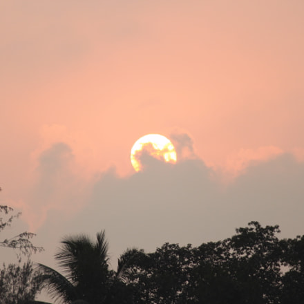 Sun set, Canon EOS 500D, Canon EF-S 55-250mm f/4-5.6 IS