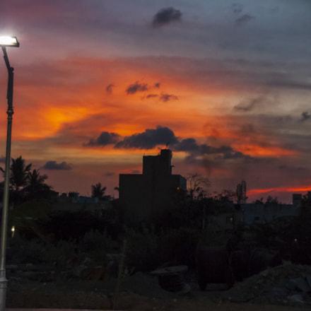 Urban Sunset_Red Skies, Canon POWERSHOT SX1 IS