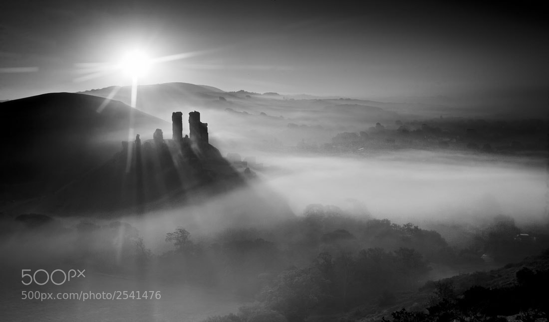 Photograph Corfe castle by Keith Burtonwood on 500px