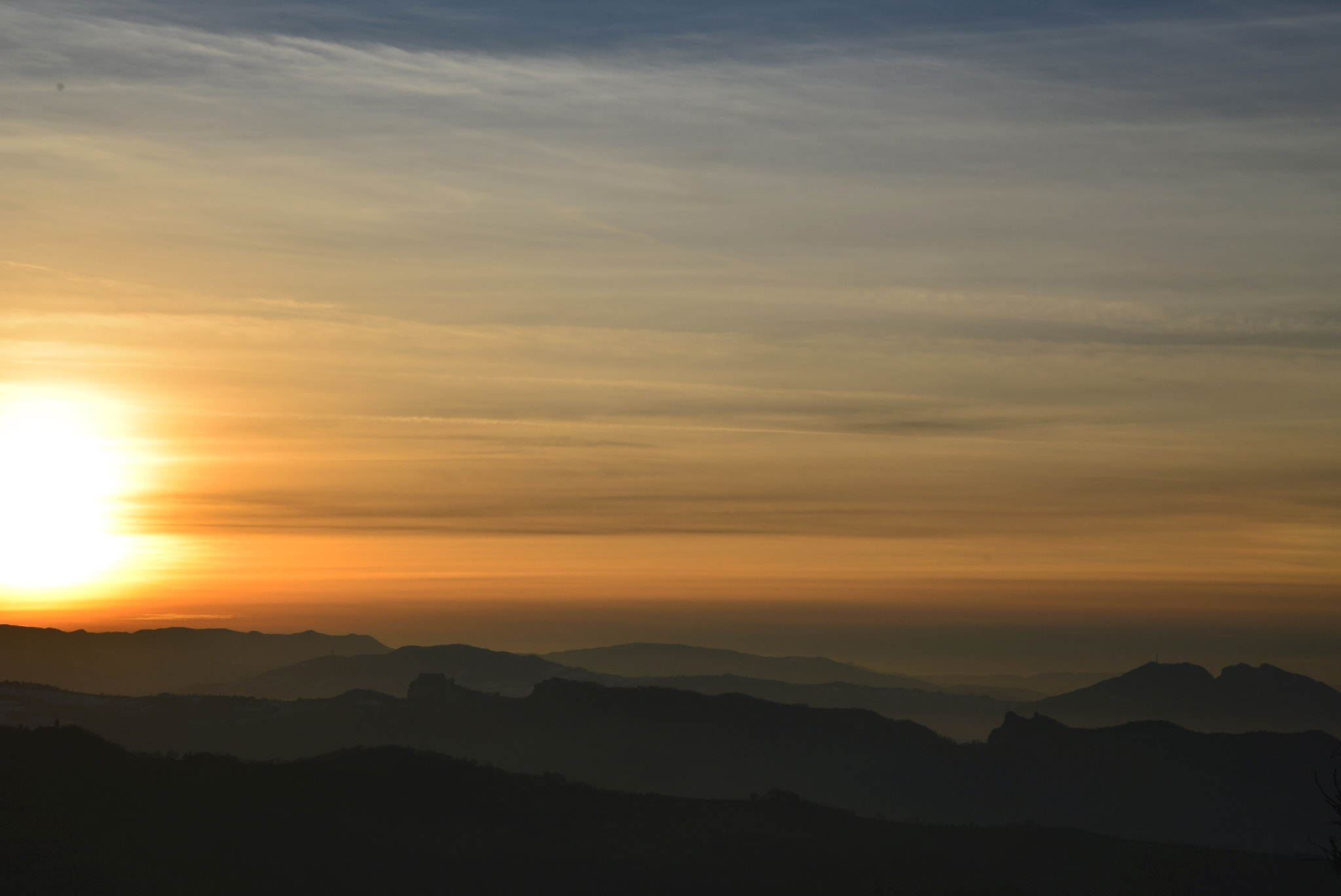 Photograph Sunset on the mountains by Vincent Cecchetti on 500px