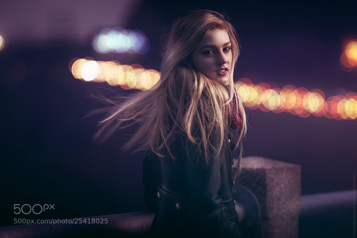 Photograph Katie: An Evening Nightlife Portrait by Nathaniel Dodson on 500px