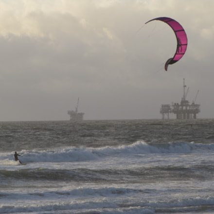 Huntington Beach beach view, Canon POWERSHOT SX20 IS