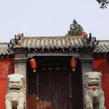 祝阳镇总司庙。重修的大门。, Nikon D2XS, AF-S DX Micro Nikkor 40mm f/2.8G