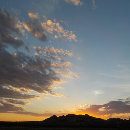 Sunset Over mountain with, Nikon COOLPIX S33