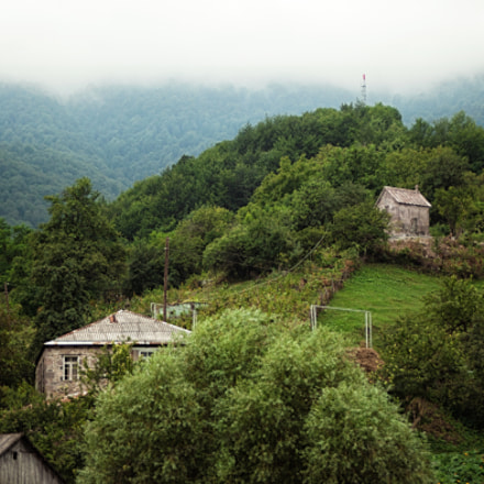 Small village between the mountains in Armenia