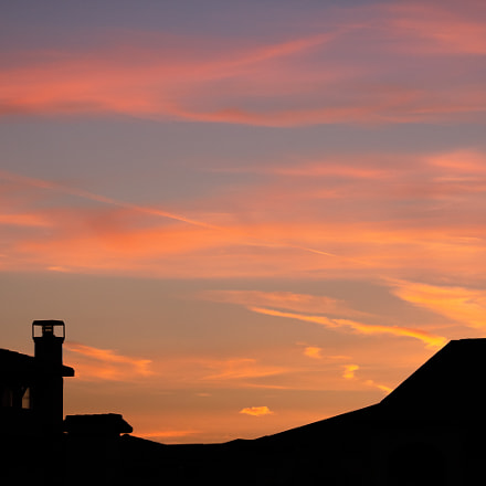 Wispy Sunset, Canon EOS REBEL T6I, Canon EF-S 55-250mm f/4-5.6 IS STM