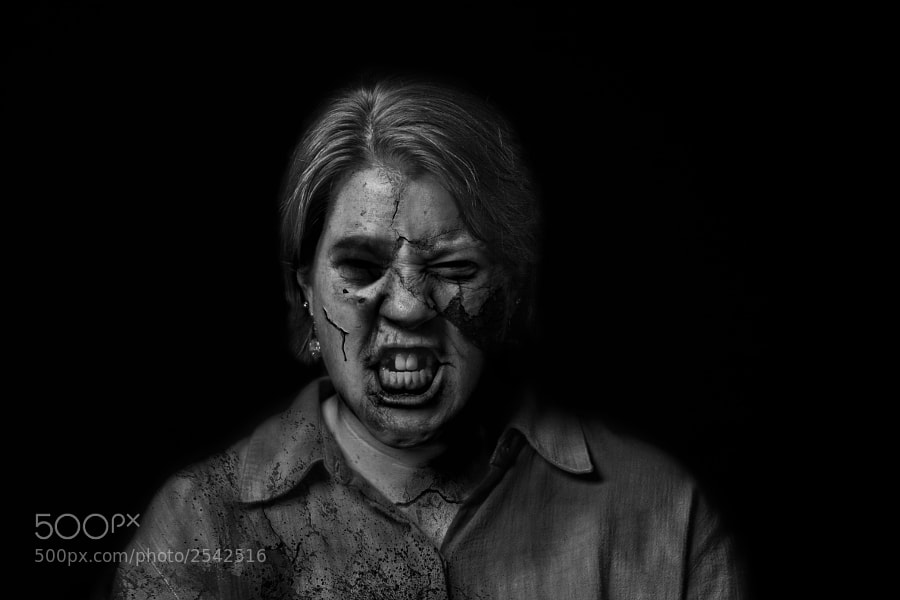 A series of portraits using only industrial textures (cracked paint, peeling wall paper, rust, etc) to evoke the illusion of zombies.