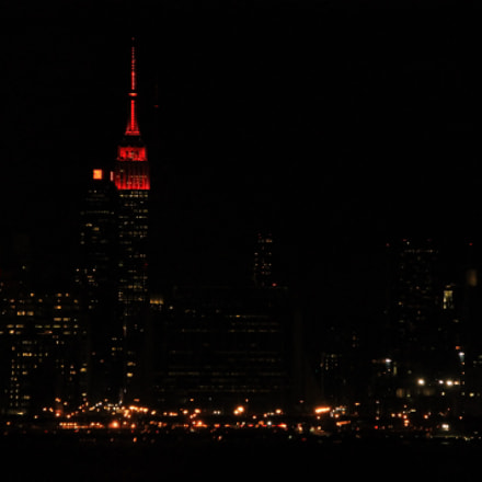 Manhattan by night, Canon EOS 1100D, Canon EF-S 18-135mm f/3.5-5.6 IS