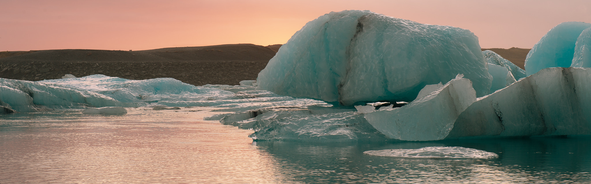 Photograph Floating Ice at Sunset by Kim C on 500px