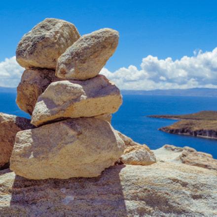 Rocks Titicaca Lake, Bolivia, Sony DSC-W830