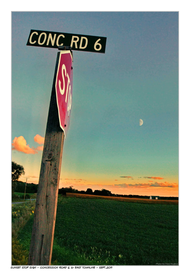 Stop Sign Moon