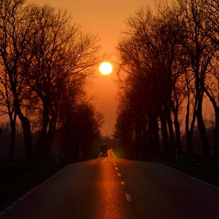 Sunset, Nikon D7000, AF-S DX Nikkor 18-300mm f/3.5-5.6G ED VR