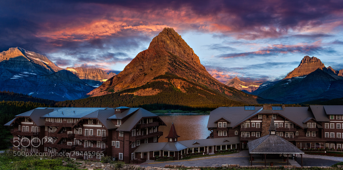 Photograph Many Glacier Hotel by Brian Behling on 500px