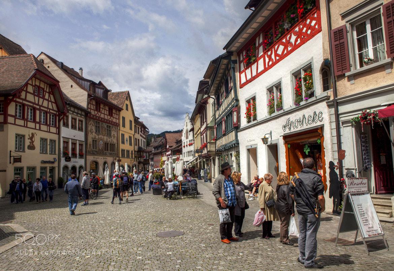 Photograph Tourists in Stein am Rhein   by Béla Török on 500px