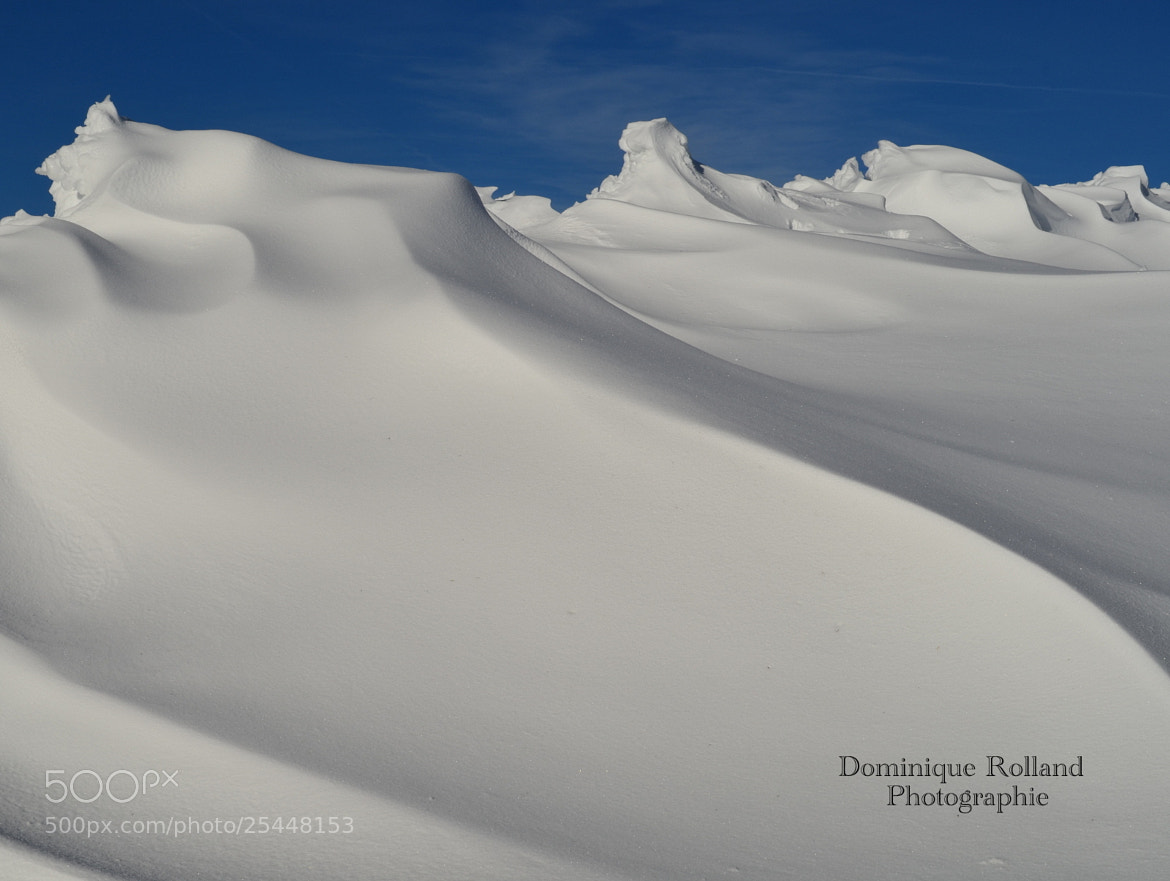 Photograph Mur de neige by Dominique  Rolland  on 500px